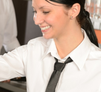 Behind a cash register, always there should be kindness, smiles and excellent service attitude.